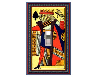 choose sizes / prices from drop down box0715A - King of Spades Playing Cards - mrs butler switch plate covers - - mix/match with 0715b