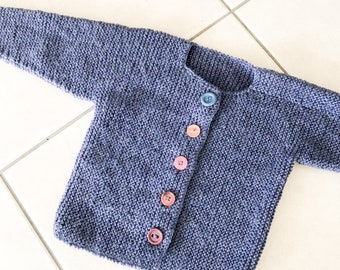 Toddlers Thick Wool Knit Sweater, 2 yrs, 3yrs, Wool Sweater, 2 Year Old, 3 Year Old, Winter,  Vintage Kids Clothing, Toddler, New Zealand, D
