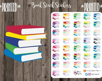 Stack of Books Planner Stickers *PRINTED