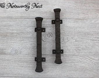 Hammered Door Handles / Door Pulls / Armoire Pulls / Iron Door Handles /  Iron Door