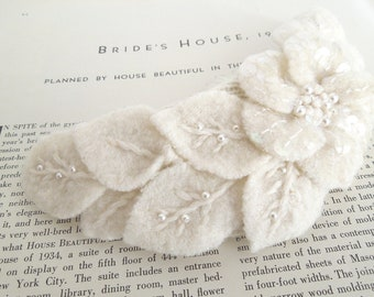 Upcycled Felted Flower Haircomb