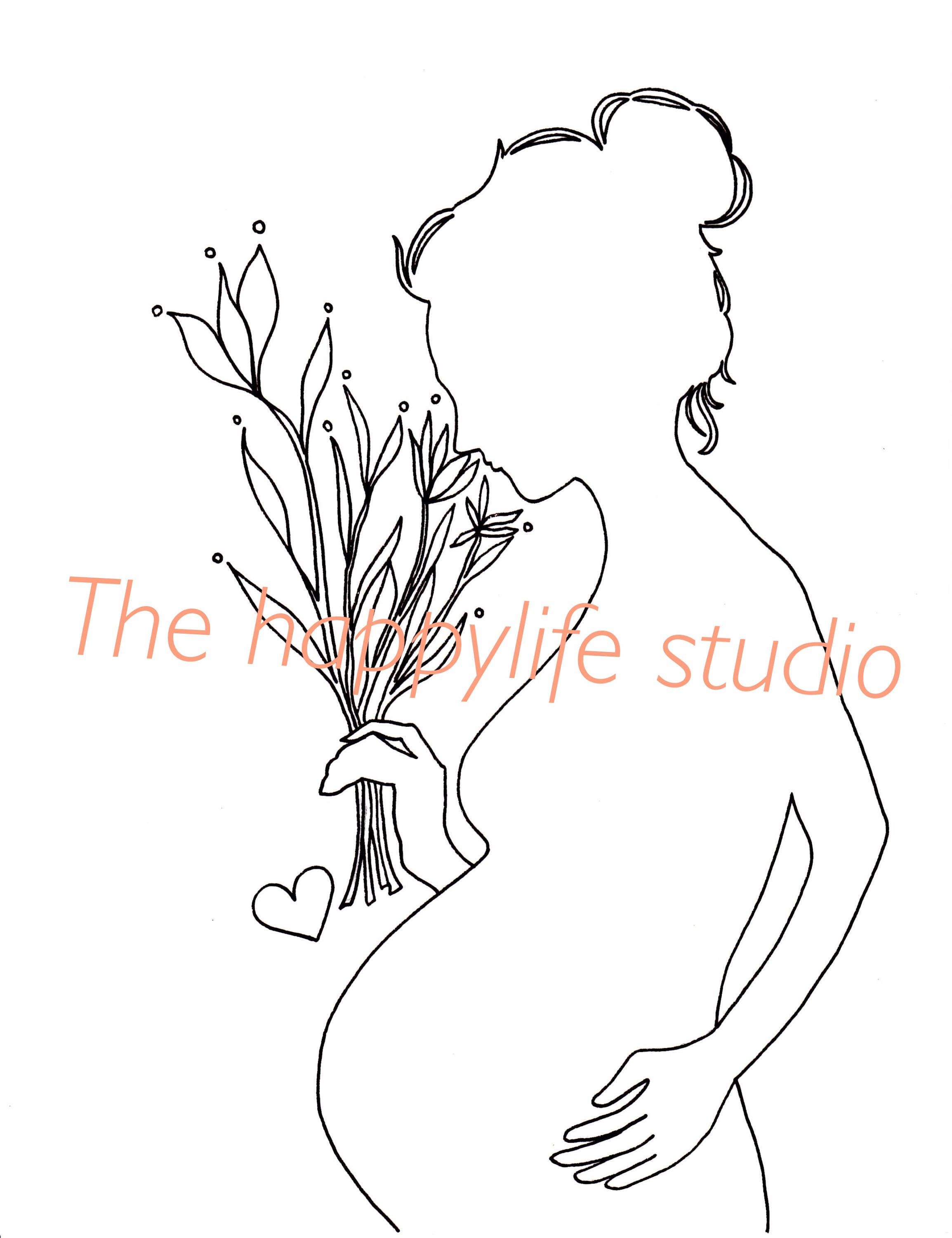 Pregnant Coloring Page Pregnancy Coloring New Mom Coloring