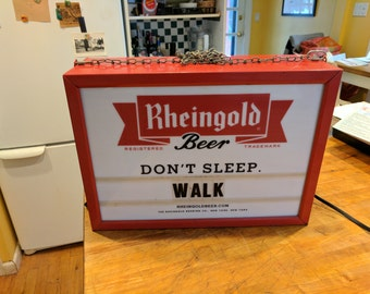 Rheingold Beer Two Sided Display Hanging Sign