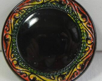 Smooth Center Czech Glass Button