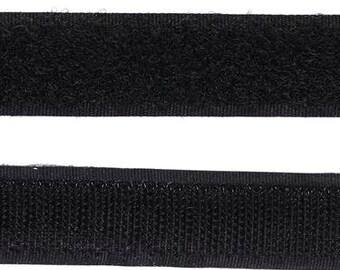 Sew-On Hook and Loop Tape, Black