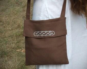 Shoulder bag for reenactors, linen