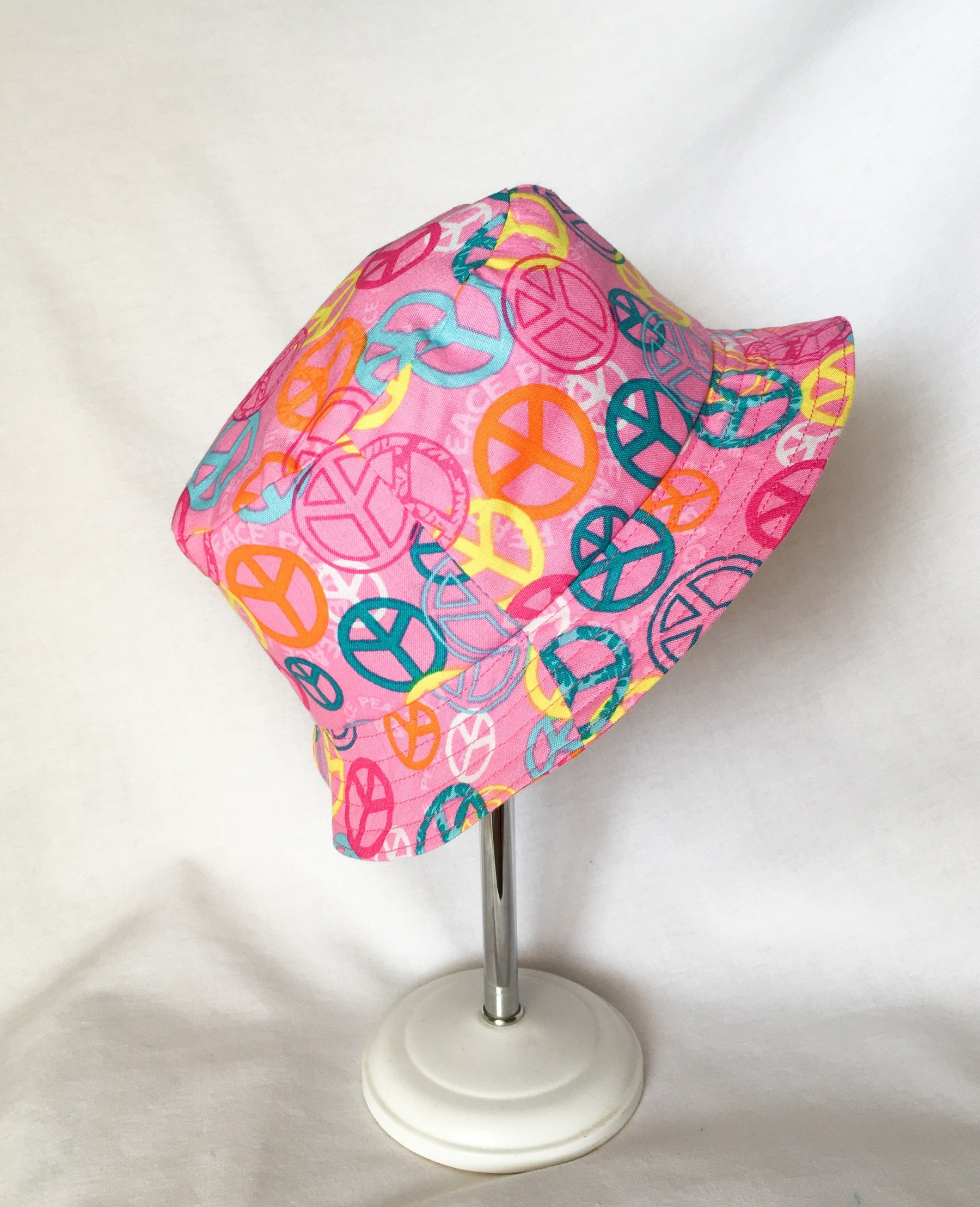 Pink toddler sun cap childs peace sign summer bucket hat toddler pink toddler sun cap childs peace sign summer bucket hat toddler girl cap aloadofball Gallery