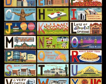 Cincinnati - The ABC's of Cincinnati Notecards