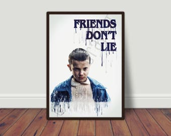 Stranger Things Printable Art with Eleven quote -INSTANT DOWNLOAD