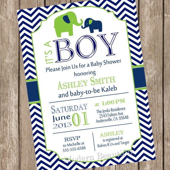 Elephant boy baby shower invitation elephant baby shower like this item filmwisefo Images