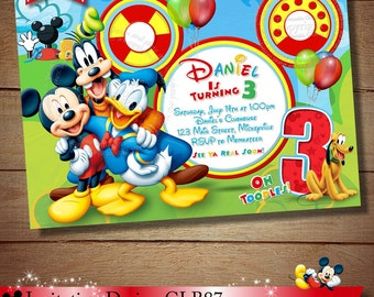 Mickey Mouse ClubHouse Invitation Mickey Invitation Mickey