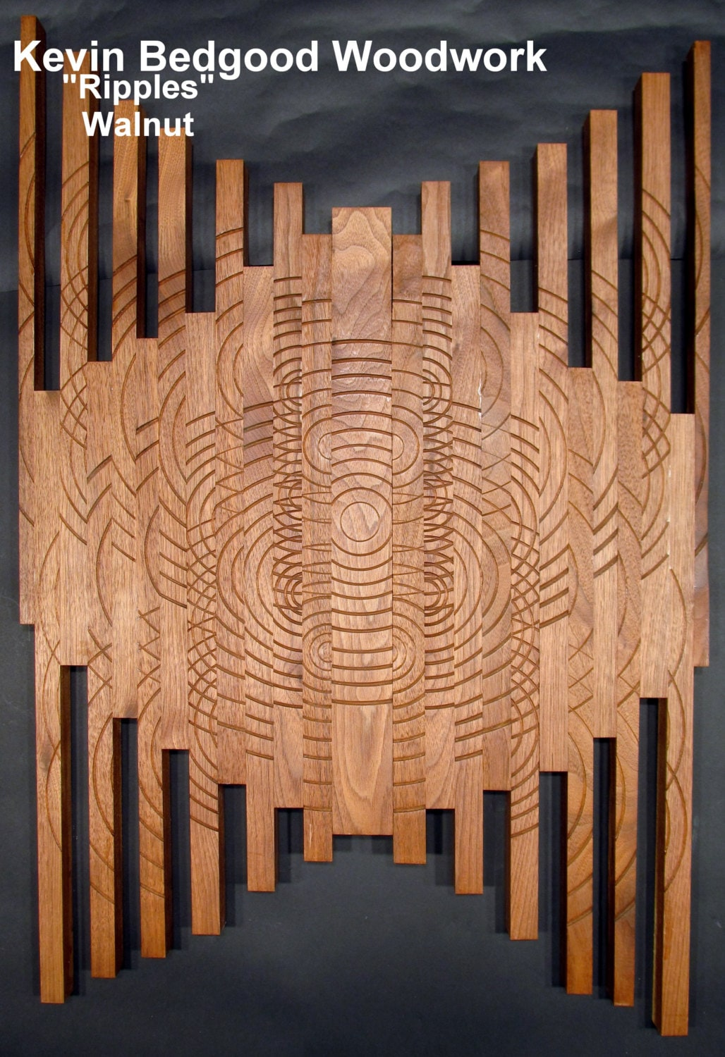Sculpture Ripples Turned wood Lathe Sculpted Artwork Wall Hanging Wall Art & Sculpture Ripples Turned wood Lathe Sculpted Artwork Wall Hanging ...