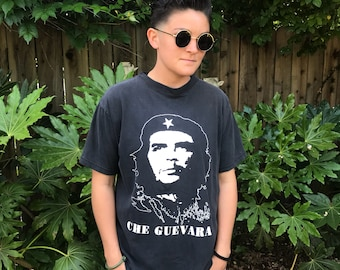 Vintage Distressed Che Guevara Black T-Shirt