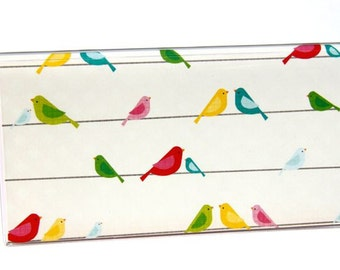 CHECKBOOK COVER - Birds on a Wire