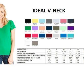 UPGRADE (XS-XL)- Ideal V-neck or Crew Neck Tee