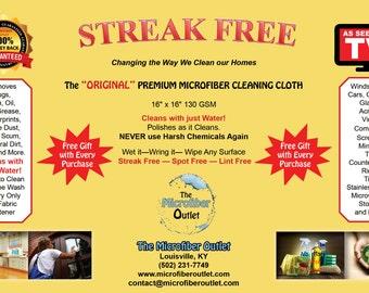 Streak Free Microfiber Cleaning Cloths
