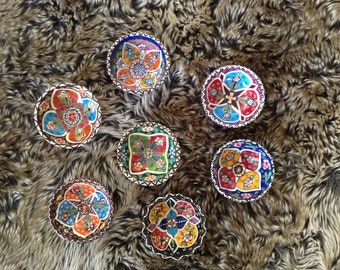 Ottoman inspired hand painted snack bowl