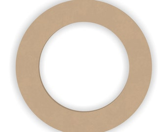 "6 inch Unfinished Wood Ring Cutout Shape - 1/4"" thick"
