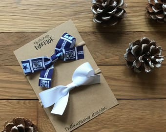 Dallas Cowboys Bow // White Bow // Bow Sets