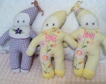 Handmade Dolls Upcycled Fabric