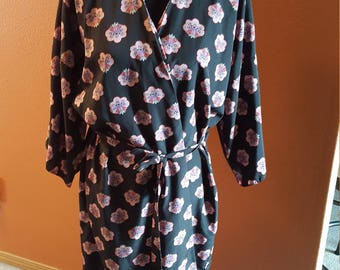Vintage Patterned Robe/Dress by Miss Elaine