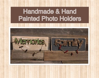 Hand Painted Photo Holders
