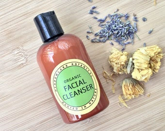 Organic Acne Facial Cleanser | Acne Face Wash | Non Drying Acne Cleanser for Oily Skin | Natural Acne Soap | Deep Cleansing Facial Wash