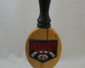 Emerald City Ale Seattle Brewing Beer Tap Handle When It Rains It Pours Free Shipping