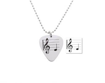 Custom Music Guitar Pick Necklace, Handwriting guitar pick, guitar gifts, gift for musician, gift for music teacher, handwritten gifts