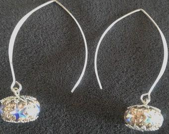 Star crystal earrings