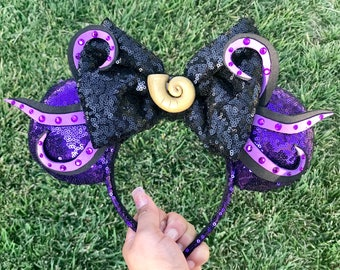 Poor Unfortunate Souls Ursula Mickey Ears- The Little Mermaid Ears- Ursula Disney Ears