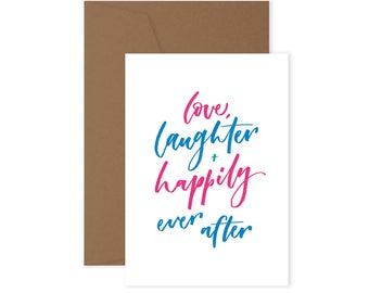 Love, Laughter and Happily ever after - Wedding Card