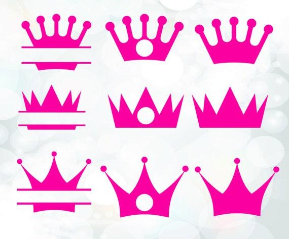 Crown monogram frames - crown clip art digital download vector files ...