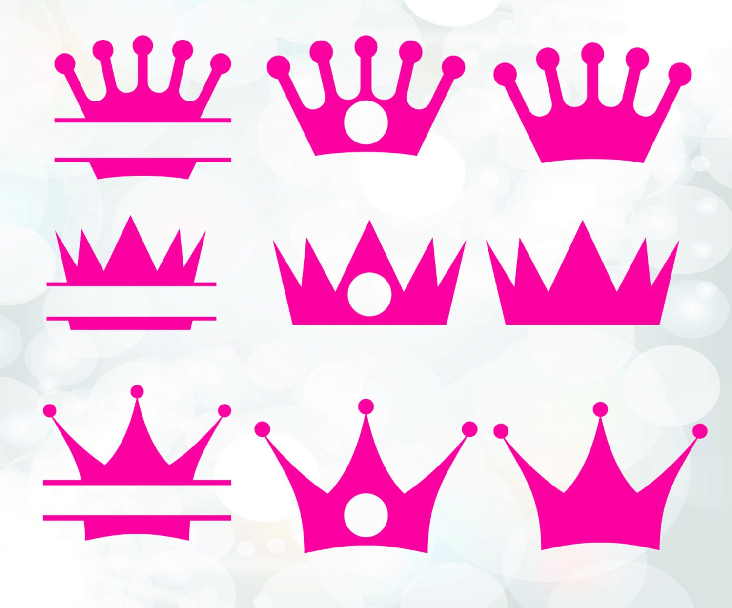 Crown monogram frames - crown clip art digital download vector files ...