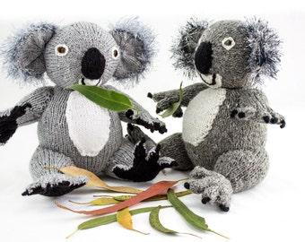 KNITTING PATTERN, Koala Knitting Pattern, Toy Knitting Pattern, Australian Koala Bear, Wildlife Toy, Knitted Softies Pattern, Knit Animal