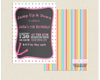 Jump Rope Invitation