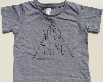 Wild thing tshirt, hipster kids clothes, trendy kids clothes, toddler tshirt, hipster baby clothes, kids fashion