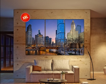 chicago wall decor art  chicago black white  chicago canvas wall art  canvas wall art