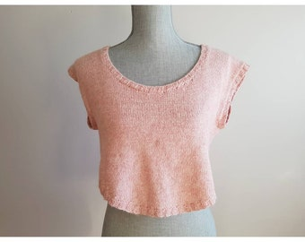 Destash - handknit angora knit top