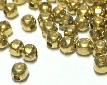 200, 500, 1000 pcs - 3 x 3 mm Raw Brass Cube Beads - Brass Cube - Cube Beads - Spacer Beads - Brass Tiny Beads