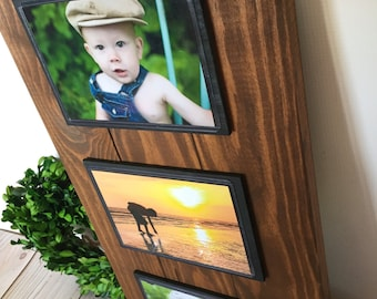 Picture Frame - Picture Frame Set - Rustic Frame - Wood Frames - 4x6 Picture Frame - Fathers Day - Rustic Home Decor - Frame Set - Frame
