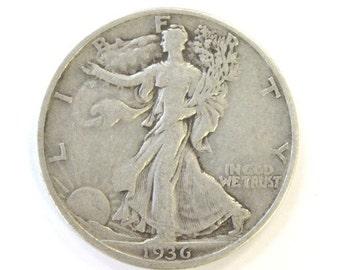 "Very Fine 1936-S ""San Francisco"" Walking Liberty HALF DOLLAR ~ COA Included"