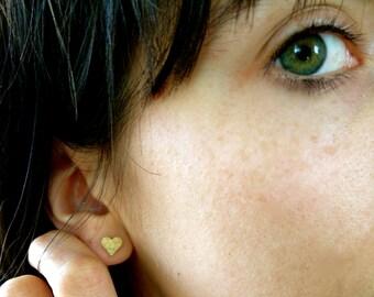 Bridesmaid gift Heart Earrings Bridesmaid jewelry Bridesmaid earrings tie the knot jewelry Love Jewelry Everyday earrings Gold Stud Earrings