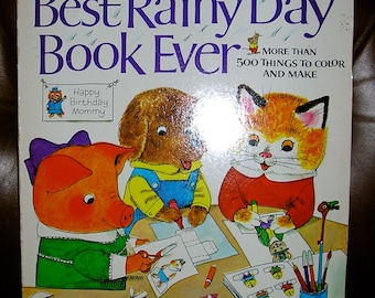 Vintage, Real First Edition, Richard Scarry's, Best Rainy Day Book Ever, 1974, very good condition