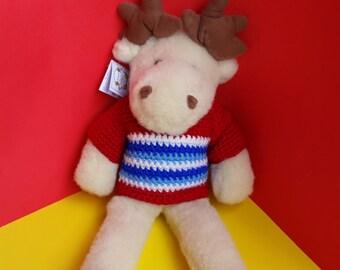 baby toy; child gift; elk toy; organic toy; 100% woolen toy; handmade toy; non-allergic toy; stuffed elk; cuddle elk; stuffed plush toy;