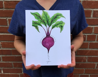 Nothing Beets You 8x10 Watercolor Pun Print