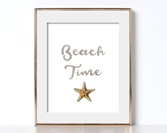 California Wall Art Beach Time Wall Print Digital Download California Printable Affordable Beach House Print Beach House Artwork Printable