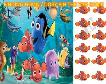 Finding Nemo / Dory Pin the Fish game