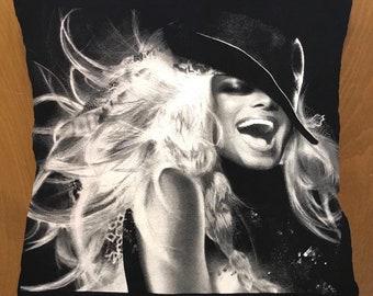Janet Jackson throw pillow