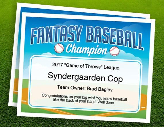 Fantasy baseball champion certificate 2 fantasy baseball fantasy baseball champion certificate 2 fantasy baseball trophy championship award template yadclub Choice Image